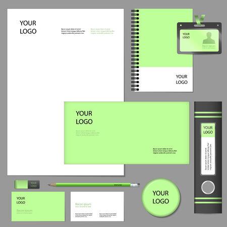 fermo: Empty set mockup di stile fermo e gli elementi di corporate identity Vettoriali
