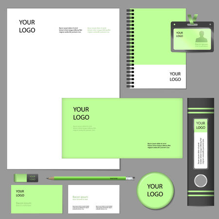 firm: Empty set mockup of firm style and corporate identity elements