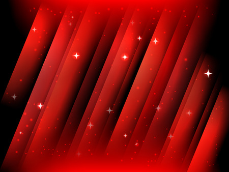 starfield: Abstract red vector starfield christmas postcard background Illustration