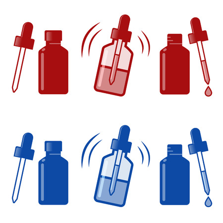 nose close up: Medical Nasal Drops Antiseptic Drugs Plastic Bottle icon