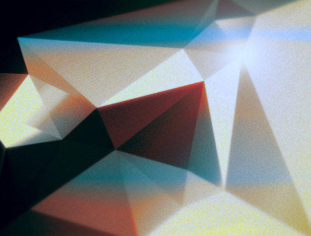 blush: Geometric polygonal triangular background for brochure cover template Stock Photo