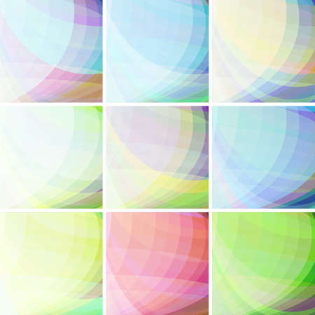sheen: Set of pastel colorful wavy abstract backgrounds Illustration