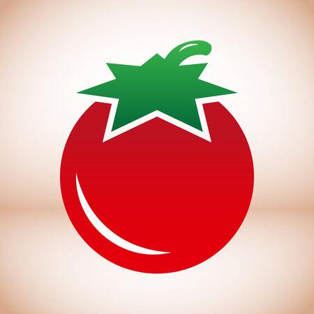 simple logo: Simple Tomato vector symbol icon usefull for logo Illustration