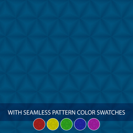 crystallization: Set of colorful seamless pyramid pattern swatches