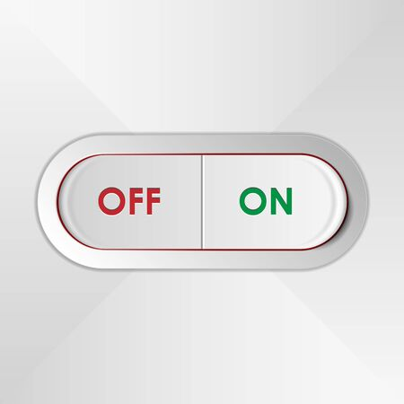 light switch: On Off Red Green Vector Light Switch