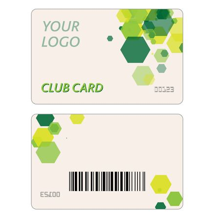 plastic texture: Set Of Plastic Gift Cards with Geometric Shapes Design