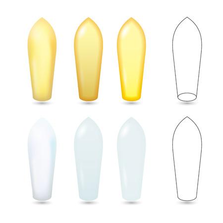 Zetpillen wit en geel Realistische Vector Illustration