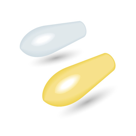 suppositories: Rectal Suppositories White and Yellow Realistic Vector Illustration Illustration