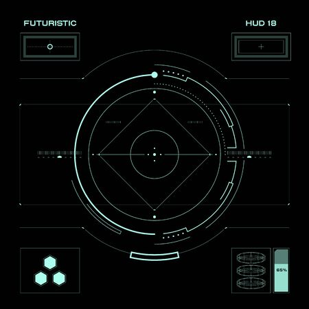 digital volume: Abstract future, concept vector futuristic blue virtual graphic touch user interface HUD, raster version