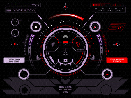 Abstract future, concept vector futuristic blue virtual graphic touch user interface HUD, raster version 免版税图像 - 46008541