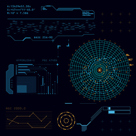 Abstract future, concept vector futuristic blue virtual graphic touch user interface HUD  イラスト・ベクター素材