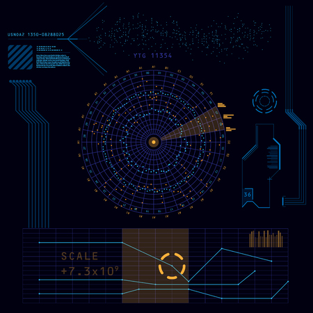 Abstract future, concept vector futuristic blue virtual graphic touch user interface HUD Ilustração