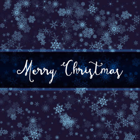wishes: Elegant Merry Christmas Snowflake Background with a Sign for Wishes