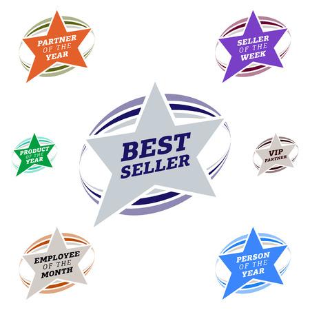 popularity popular: Bestseller star label most popular sign popularity label or sticker.
