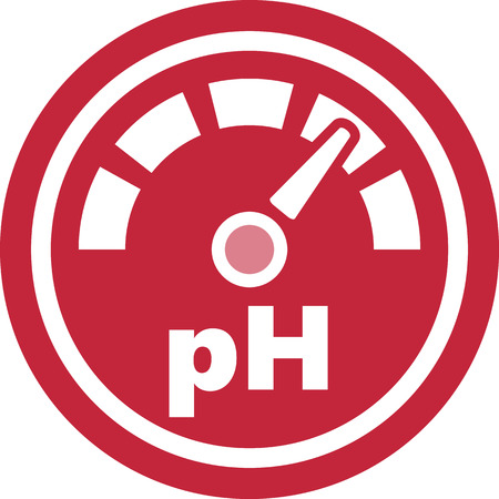pH increase measurement Illustration