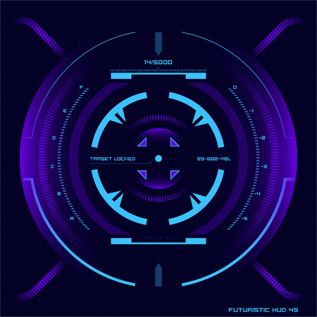 Set of futuristic user interface elements for dashboard or control panel Stock Illustratie