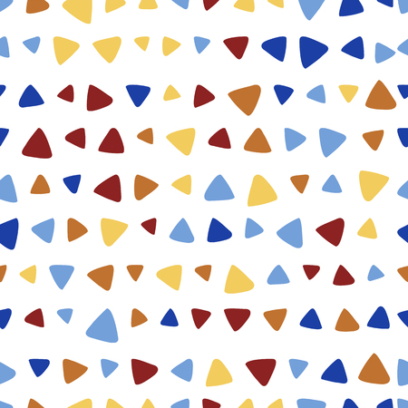 Abstract triangle colorful vector seamless pattern. Gaudi style mosaic 向量圖像