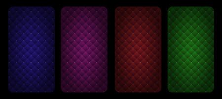 Diamond padded upholstery seamless pattern background. Abstract vector illustration Vector Illustration