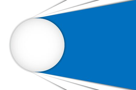 Big white button, blue and white abstract vector background. Can be used in cover design, book design, website background, presentation, advertising. Иллюстрация