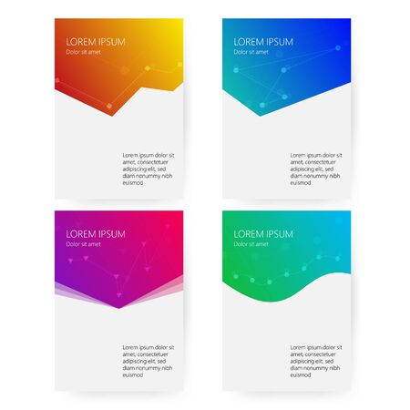 Cover report colorful geometric shapes info-graphic design background, vector illustration Иллюстрация