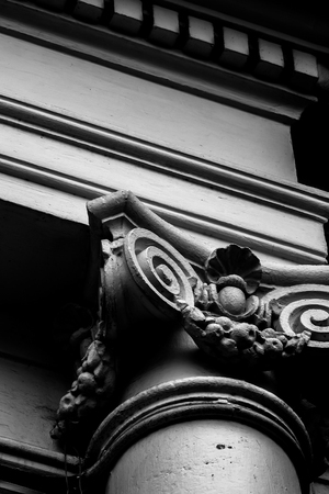 fluting: Roman Style Pole Classical order Classic Architecture Stock Photo