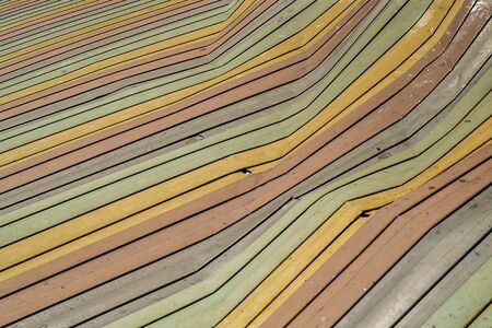 deteriorate: colorful old corrugated iron background