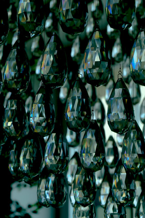 crystal chandelier: Crystal chandelier hanging on the old, like drops of rain