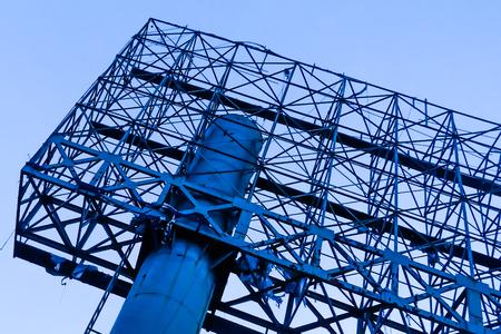 Blank big billboard on blue sky with clouds Architectural concept Zdjęcie Seryjne