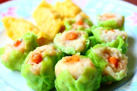 restuarant: dim sum or dumpling is a popular chainese food.