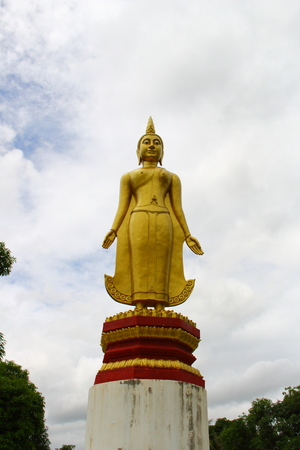 dogma: buddha statue you can see anywhere in Thailand. Stock Photo
