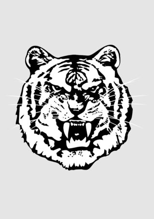 The vector image of a head of a tiger in a format EPS8 Vector