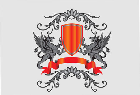 heraldic symbol and banner vector illustration Vector