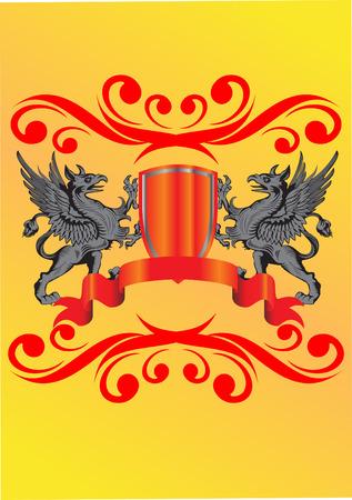 heraldic symbol and banner vector illustration Stock Vector - 4875752
