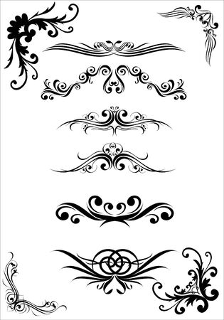 figured: Vector image of patterns and ornaments  format EPS8 Illustration