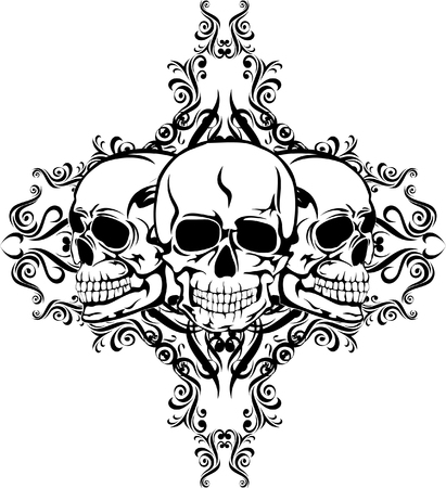 Skull with  pattern Stock Vector - 5017501