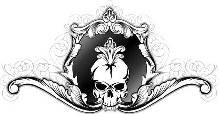 rot:  illustration skull in frame