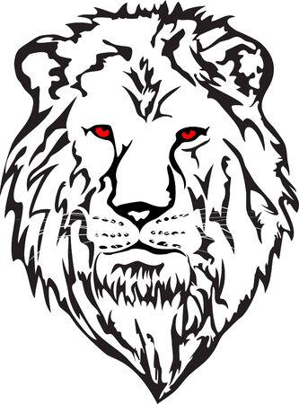 animal heads: image head lion Illustration