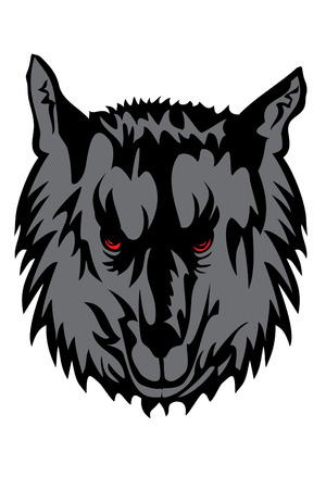 image of gray wolf Vector