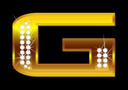 letras doradas: Cartas de vector de oro con brillantes sobre fondo negro