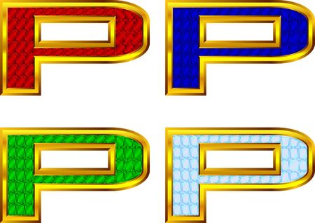 gold letters: Gold letters with jewels