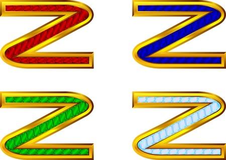 letras doradas: Letras de oro con joyas