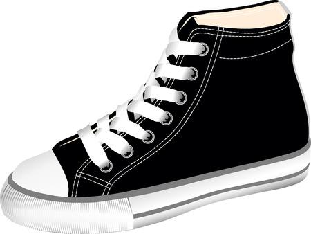 sport ecole: L'image vectorielle chaussures de sport - chaussures de sport