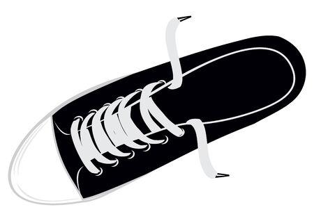 zapatos escolares: El calzado de deporte de imagen vectorial - zapatos de gimnasio