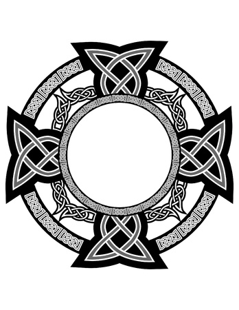 celtic culture: cross with celtic patterns