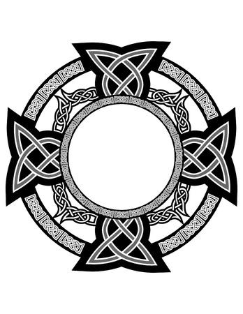 keltische muster: Kreuz mit keltischen Muster Illustration