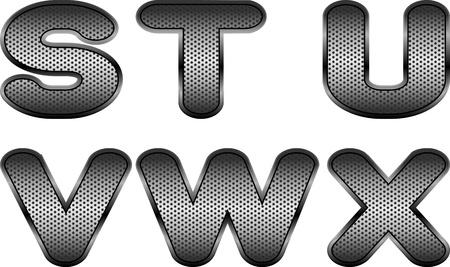 letras cromadas: Las cartas vectoriales y figuras con efecto de metal