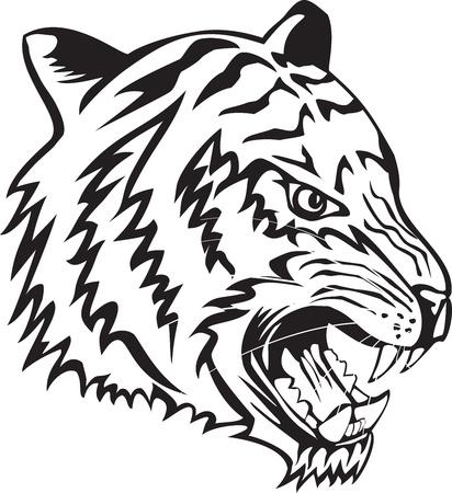 Vector illustratie hoofd tijger