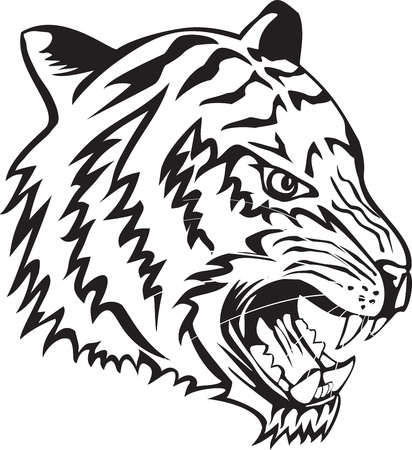 Vector illustration head tiger Stock Vector - 11568757