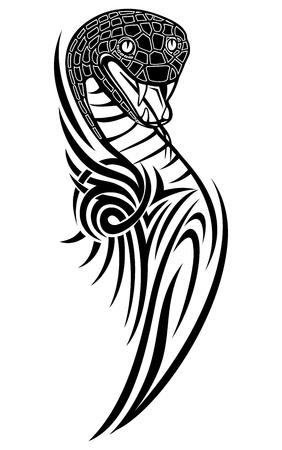 serpiente de cascabel: Vector de la ilustración con dibujos de serpientes Vectores