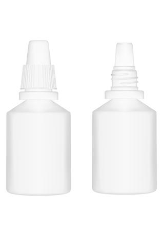 Vector illustration bottle  drop for treatment bodies  breath  diseases Stock Vector - 12389296
